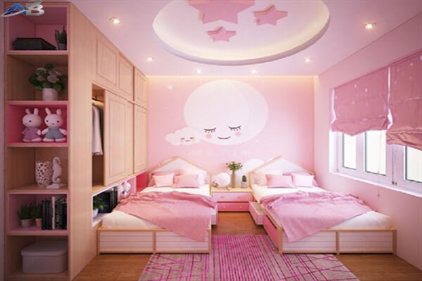 Mẫu trần dành cho phòng ngủ bé gái đẹp