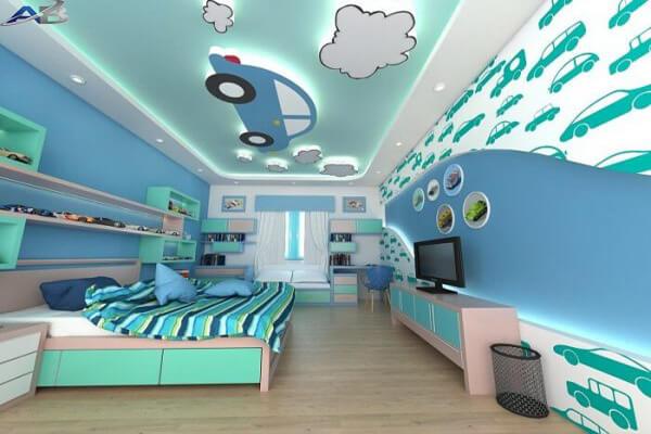 Mẫu trần dành cho phòng ngủ bé trai