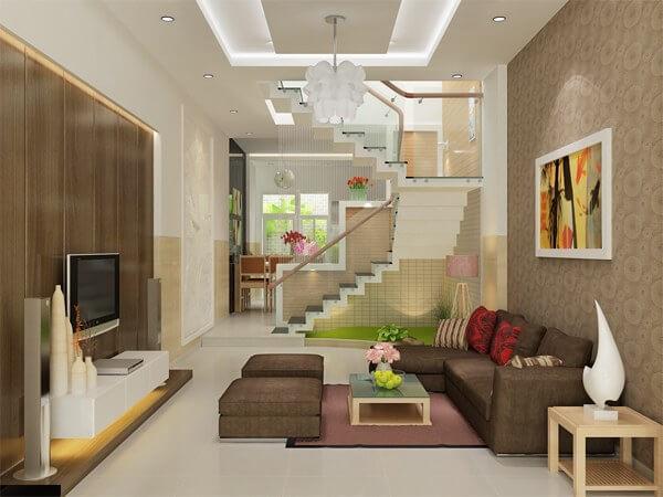 Phòng khách kiểu nhà ống