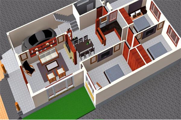 Nhà cấp 4 có diện tích 8x15m