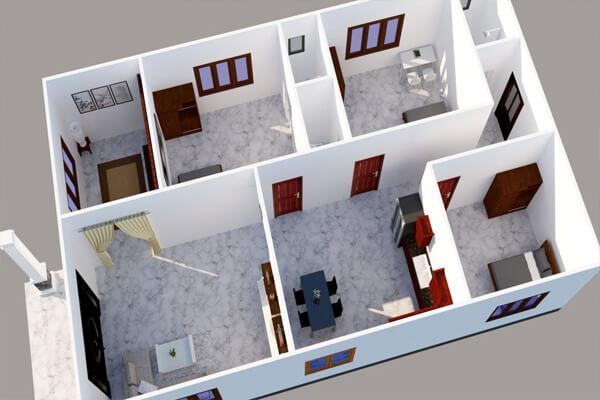 Nhà cấp 4 với diện tích 9x15m